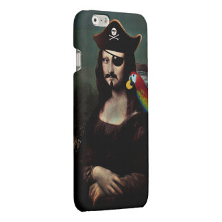 Mona Lisa Pirate Captain With a Mustache Matte iPhone 6 Case