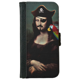Mona Lisa Pirate Captain With a Mustache Wallet Phone Case For iPhone 6/6s