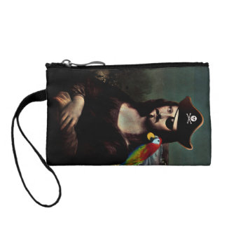 Mona Lisa Pirate Captain With Mustache Change Purse