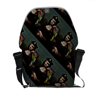 Mona Lisa Pirate Captain With Mustache Courier Bag