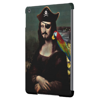 Mona Lisa Pirate Captain with Mustache Cover For iPad Air