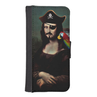 Mona Lisa Pirate Captain with Mustache Phone Wallet