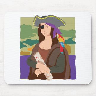 Mona Lisa Pirate Mouse Pad