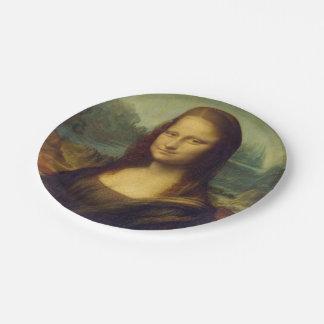 Mona Lisa Plato De Papel De 7 Pulgadas