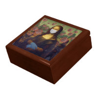 Mona Lisa Playing Safe Around Coronavirus, ZFBP Gift Box