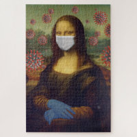 Mona Lisa Playing Safe Around Coronavirus, ZFBP Jigsaw Puzzle