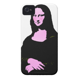 Mona Lisa Pop Art Style (Add Background Color) iPhone 4 Case