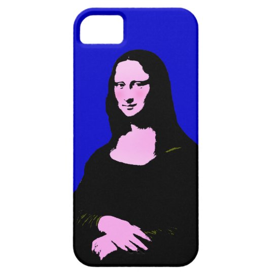 Mona Lisa Pop Art Style (Add Background Color) iPhone SE/5/5s Case