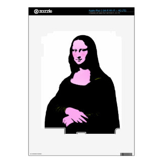 Mona Lisa Pop Art Style (Add Background Color) iPad 3 Skins