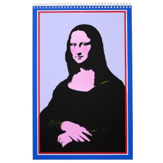 Mona Lisa Pop Art Style Calendar