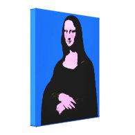 Mona Lisa Pop Art Style Canvas Print