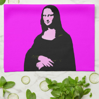 Mona Lisa Pop Art Style Towel