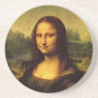 Mona Lisa por el práctico de costa de Leonardo da  Posavasos Diseño