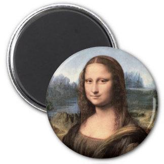 Mona Lisa Portrait / Painting 2 Inch Round Magnet