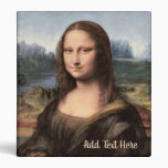 Mona Lisa Portrait Painting 3 Ring Binder