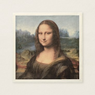 ironydesignphotos Mona Lisa Portrait / Painting Paper Napkin