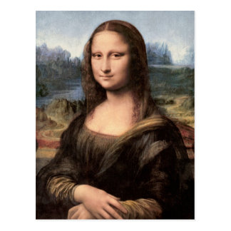 Mona Lisa Portrait / Painting Postcard