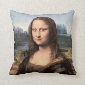 Mona Lisa Portrait / Painting Throw Pillow