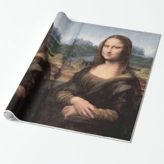 Mona Lisa Portrait / Painting Wrapping Paper