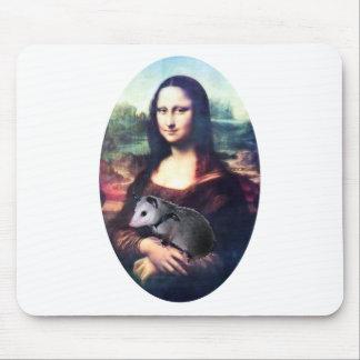 Mona Lisa Possum Mouse Pad