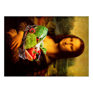 Mona Lisa Prefers Healthy Food Large Business Cards (Pack Of 100)