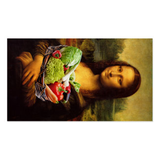 Mona Lisa Prefers Healthy Food Double-Sided Standard Business Cards (Pack Of 100)