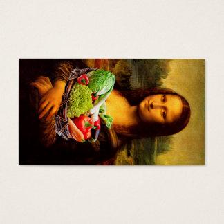 Mona Lisa Prefers Healthy Food Business Card