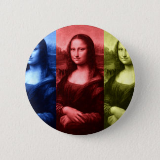 Mona Lisa Primary Colors Pinback Button