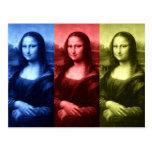 Mona Lisa Primary Colors Postcard