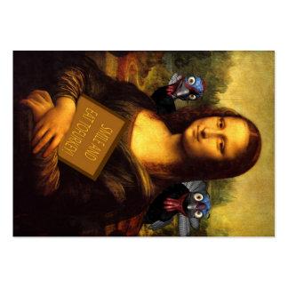Mona Lisa protege pavos Tarjetas De Visita Grandes