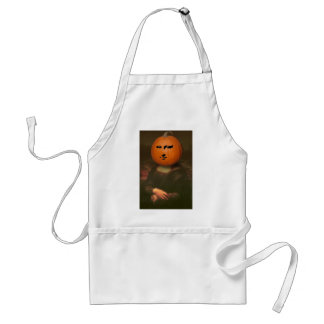 Mona Lisa Pumpkin Adult Apron