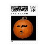 Mona Lisa Pumpkin Postage Stamps