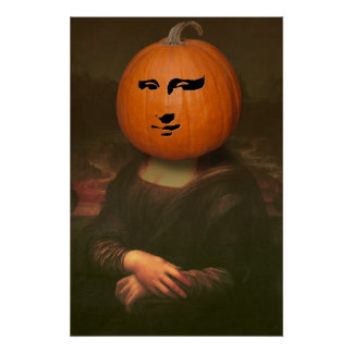 Mona Lisa Pumpkin Print