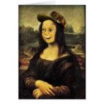 Mona Lisa, puso una cara feliz Felicitaciones