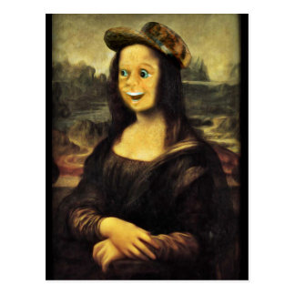 Mona Lisa, Put on a Happy Face Postcard