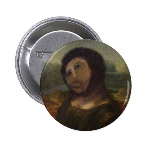 Mona Lisa restaurada Pin Redondo 5 Cm