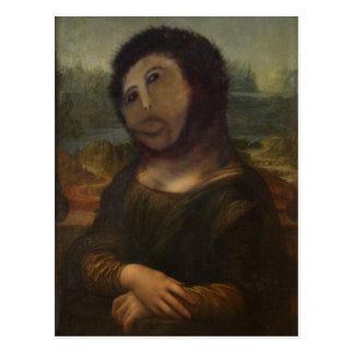 Mona Lisa restaurada Postal