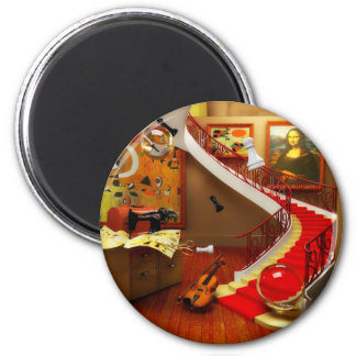 Mona Lisa Room By Lenny 2 Inch Round Magnet