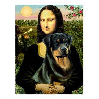 Mona Lisa - Rottweiler (#3) Tarjetas Postales