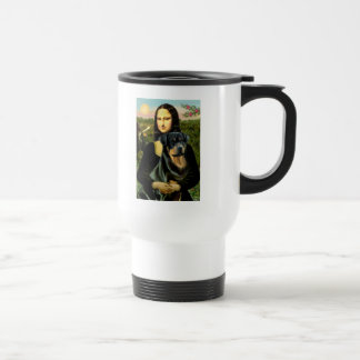 Mona Lisa - Rottweiler (#3) Taza De Viaje