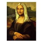 Mona Lisa rubia Postal
