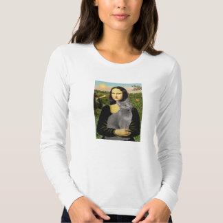 Mona Lisa - Russian Blue cat T Shirt