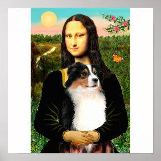 Mona Lisa s Australian Shepherd Tri Posters