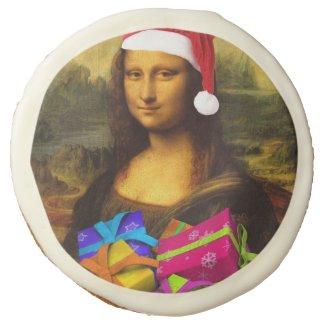 Mona Lisa Santa Claus Sugar Cookie