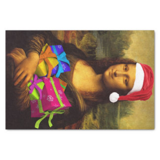 Mona Lisa Santa Claus Tissue Paper