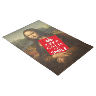 Mona Lisa Says Keep Calm And Smile Doormat