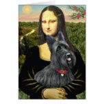 Mona Lisa - Scottish Terrier #1 Greeting Card