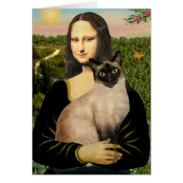 Mona Lisa - Seal Point Siamese cat Card