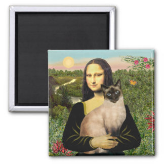 Mona Lisa - Seal Point Siamese cat Magnet