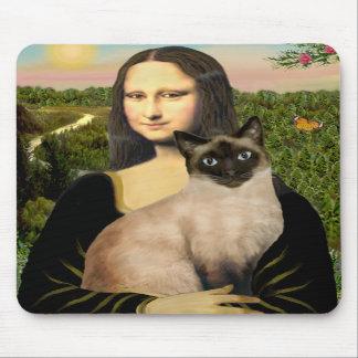 Mona Lisa - Seal Point Siamese cat Mousepad